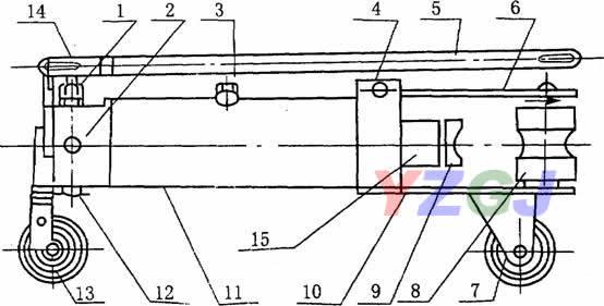 wqj系列液压弯管机结构示意图